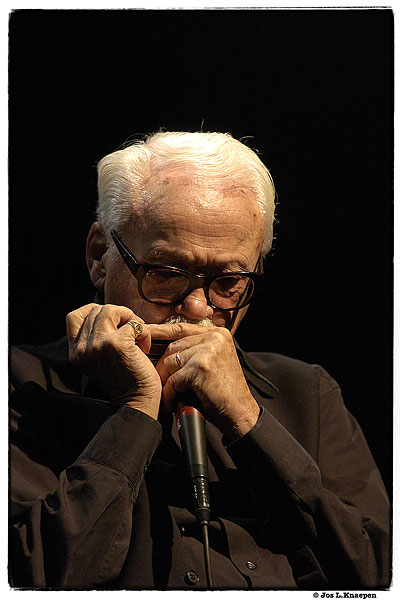 Toots Thielemans. Photo by Jos L. Knaepen