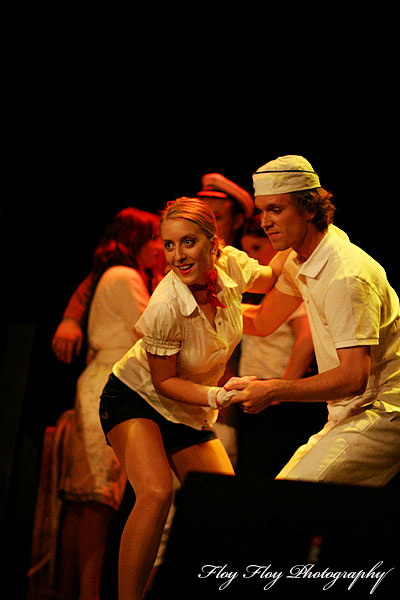 Lindy hop dancing. The musical Anything Goes at Grand. Copyright: Henrik Eriksson. The photo may not be used elsewhere without my permission.
