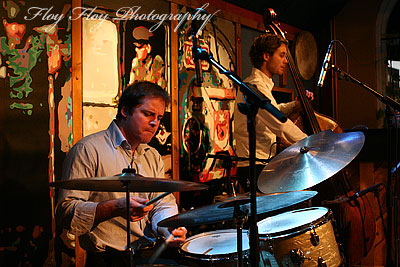 Jesper Kviberg (drums) and Palle Sollinger (bass) at Hijazz. Copyright: Henrik Eriksson. The photo may not be published elsewhere without written permission.