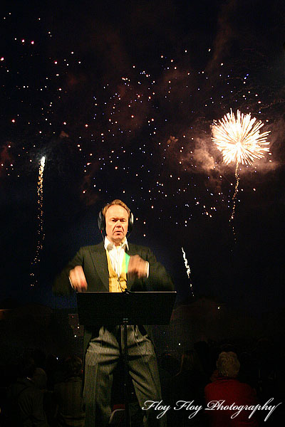 Botan Brass & fireworks. Ulf Johansson Werre conducts. Copyright: Henrik Eriksson. The photo may not be used elsewhere without my permission.