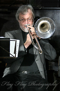 P-O stergren (trombone). Copyright: Henrik Eriksson. The photos may not be used elsewhere without written permission.