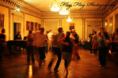 Swing dancing at Uplands nation in Uppsala. Copyright: Henrik Eriksson. The photo may not be published elsewhere without written permission.