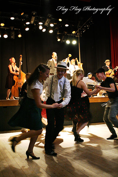 Sweet Emma &amp; The Mood Swingers. Music video shoot at Grand. Copyright: Henrik Eriksson. The photo may not be published elsewhere without written permission.