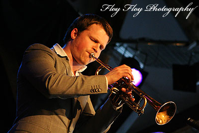 Karl Olandersson (trumpet). Hacke Björksten 3G at Katalin. Copyright: Henrik Eriksson. The photo may not be published elsewhere without written permission.