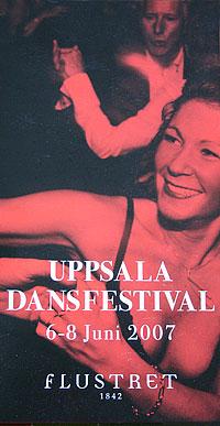 Uppsala dansfestival poster.