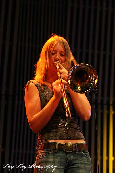 Johanna Grim (trombone). Silver Sextett at Uppsala Konsert & Kongress Opening. Copyright: Henrik Eriksson. The photo may not be published elsewhere without written permission.