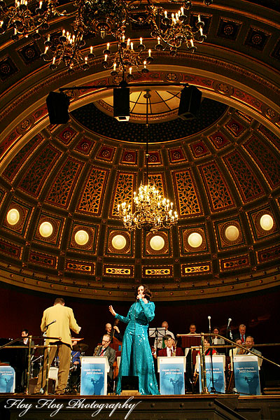 Hannah Nilsson (singer). Uppsala University Jazz Orchestra. Copyright: Henrik Eriksson. The photo may not be used elsewhere without my permission.