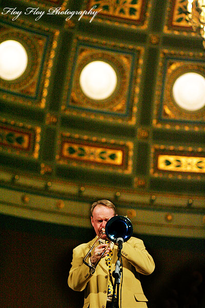 Ulf Johansson Werre (trombone). Uppsala University Jazz Orchestra. Copyright: Henrik Eriksson. The photo may not be used elsewhere without my permission.