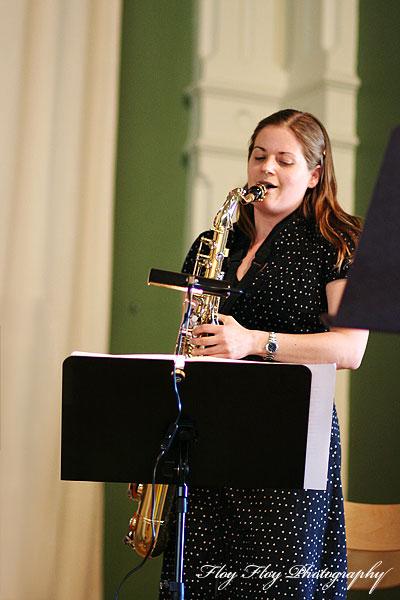 Camilla Wåhlin (saxophone). Uppsala University Jazz Orchestra. Copyright: Henrik Eriksson. The photo may not be published elsewhere without written permission.
