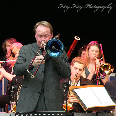 Ulf Johansson Werre with Skrapan Big Band. Copyright: Henrik Eriksson. The photo may not be published elsewhere without written permission.