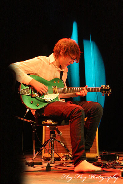 Kasper Agnas (guitar). Ellen Arkbro kvartett at Grand at Uppsala Winter Camp 2008. Copyright: Henrik Eriksson. The photo may not be used elsewhere without my permission.