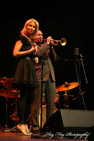 Viktoria Tolstoy (vocals) and Peter Asplund (trumpet) at Winter Jazz at Uppsala Konsert &amp; Kongress. Copyright: Henrik Eriksson. The photo may not be published elsewhere without written permission.