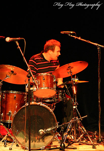 Sebastian gren (drums), Johan Chistoffersson 4 at Youth Jazz Contest 2007. Copyright: Henrik Eriksson. The photo may not be published elsewhere without written permission.