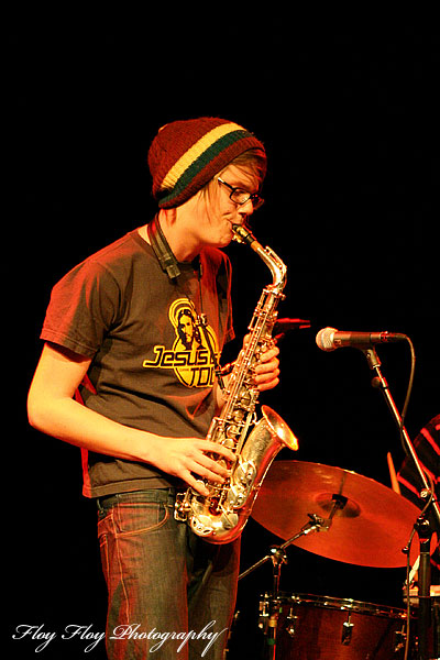 Johan Chistoffersson (saxophone), Johan Chistoffersson 4 at Youth Jazz Contest 2007. Copyright: Henrik Eriksson. The photo may not be published elsewhere without written permission.